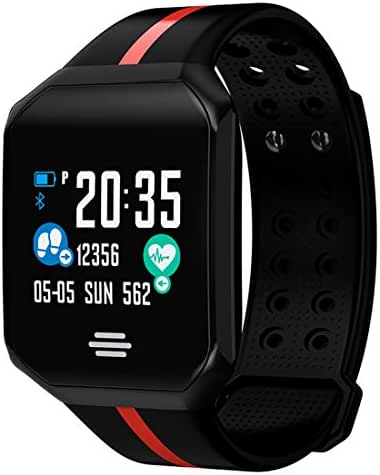 Fitness Tracker with Heart Rate Color Screen Activity Tracker and Blood Pressure Monitor, IP67 Waterproof Sleep Monitor, Smart Bracelet Smart Wristband Sport Pedometer for Kids Women and Men-Black