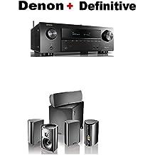Denon AVR-X1500H 7.2 CH 80W 4K Ultra HD WiFi/Bluetooth AV Receiver + Definitive Technology Pro Cinema 800 System Black Bundle