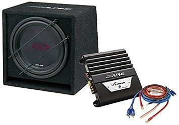 Alpine SBG-12KIT - Conjunto de sobwoofer 12, amplificador MRP-M350 y cableado, 800 W: Amazon.es: Electrónica