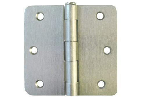 21 Satin Nickel 3.5'X 3.5' w 1/4' Radius Door Hinges Brushed Interior