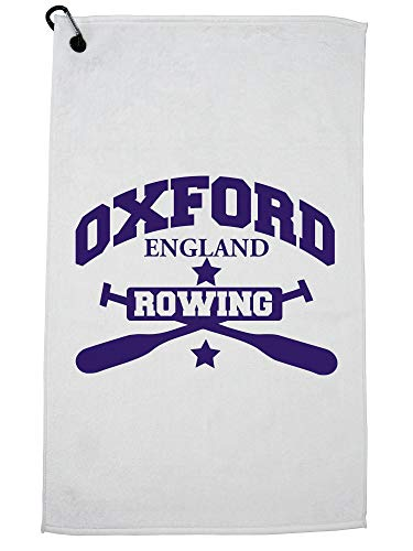 Hollywood Thread Oxford Rowing - England Crew - Blue Oars Golf Towel with Carabiner Clip