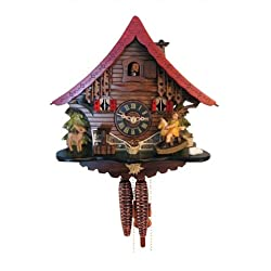 4715 - Engstler Weight-driven Cuckoo Clock - Full Size - - 10H x 10W x 6.5D