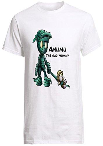 League of Legends Champion Amumu the Sad Mummy Shirt Custom Fruit of the Loom T-shirt (XL)