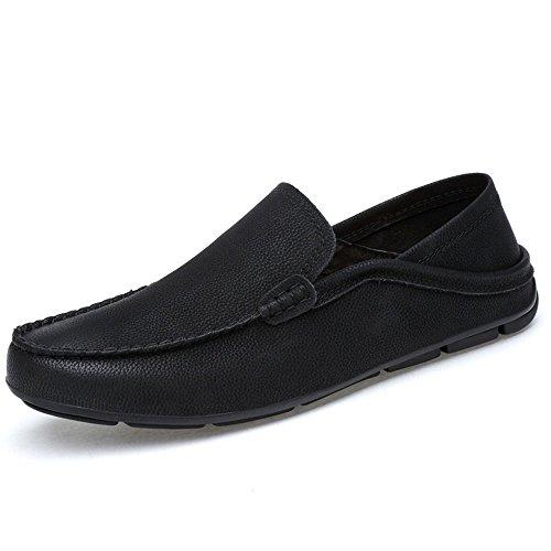 Nero Mocassini shoes Uomo uomo per Shufang casual Da Dimensione barca da Scarpe Color EU leggeri in 45 cavo pelle 2018 da foderati vera traspirante e mocassini Mocassini rinfrescanti gIIdqY