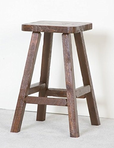 Viking Log Furniture NBHVPT1 30 x 19 x 19 in. Barnood 30 in. Pub Stool - Honey Pine