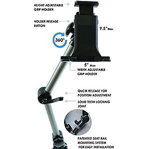 Mobotron UTSM-01 Standard Mount: In-Car Universal Tablet/Smartphone Holder