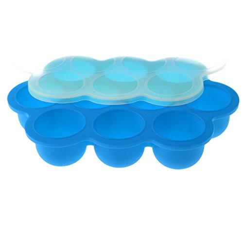 MagiDeal Bandejas de Congelador de Almacenaje Alimento de Bebé Niños Accesorios Cocina - Azul, como se describe
