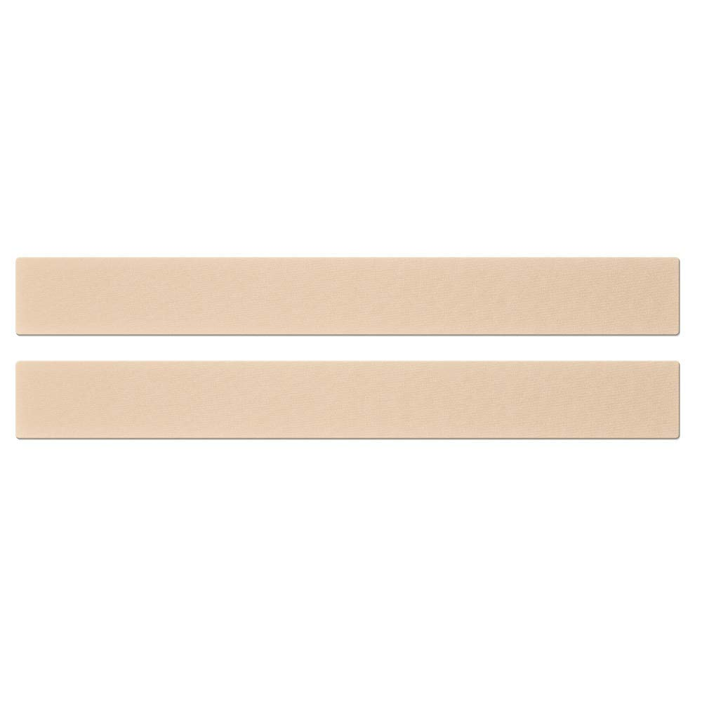 Epi-Derm Long Strip - 1.4 x 11.5 in - (1 Pair) (Natural) Silicone Scar Sheets from Biodermis by Biodermis