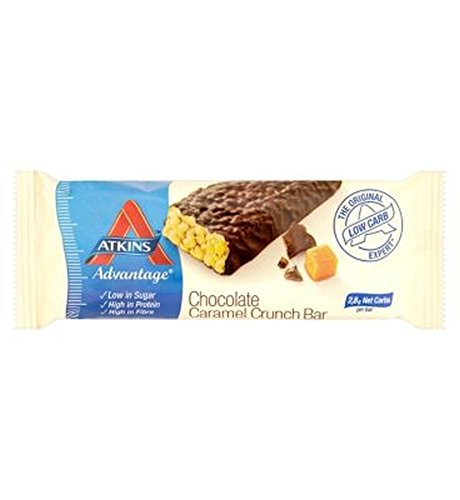 (Atkins Advantage Chocolate Caramel Crunch With Sweetener - 60G - Pack of 2)