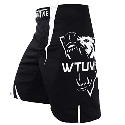 WTUVIVE MMA Shorts for Men Print Muay Thai Shorts Fight Training Boxing Trunks
