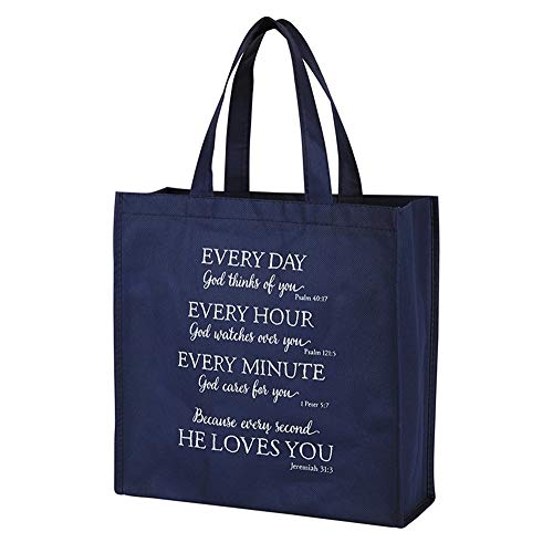 Christian Religious Tote Bag - God Loves You Blessing Tote Bag