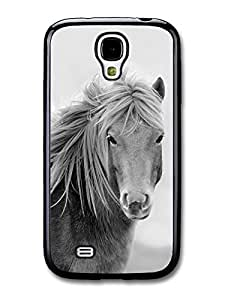 AMAF ? Accessories Black & White Hairy Pony Horse case for Samsung Galaxy S4 wangjiang maoyi by lolosakes