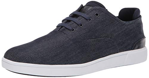 Steve Madden Men's Fathom Sneaker, Navy Fabric, 11 M US