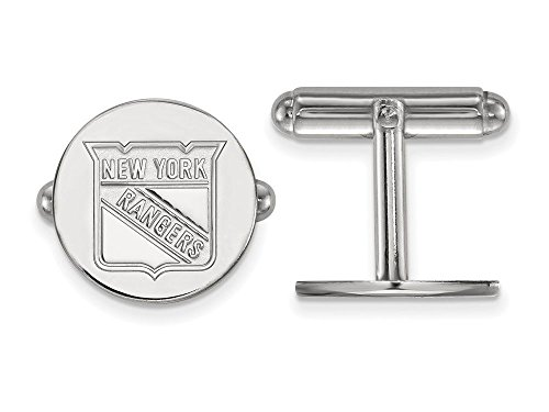 New York Rangers Cuff Links (Sterling Silver)
