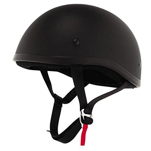Skid Lid Original Helmet (Flat Black, Medium)