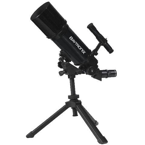 Black TwinStarAstroMark 80mm Dual Tripod Refractor Telescope
