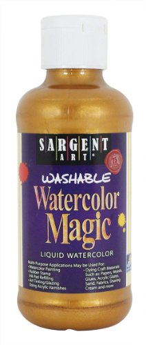 Sargent Art 22-6018 8-Ounce Watercolor Magic Metallic, Pirate Gold ()