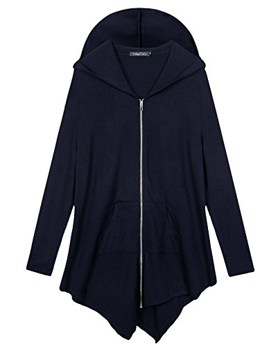 Navy Blue Hooded Jacket - 6