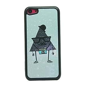 ZCL- Patrón Dibujo Sr. Triángulo duro caso para iPhone 5C