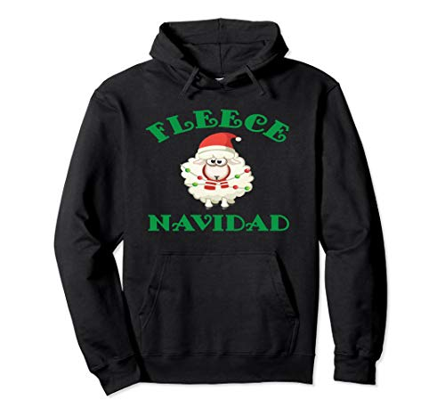 Christmas Fleece Navidad Sheep Wool Lamb Hoodie -