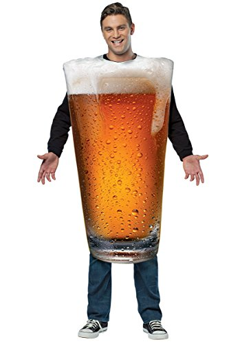 Glass Of Beer Costume - Rasta Imposta Beer Pint Costume, Gold, One Size