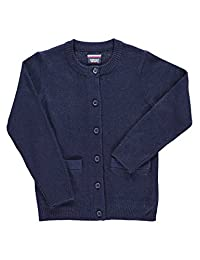 French Toast Girls School Uniforms Anti-Pill Crew Neck Cardigan