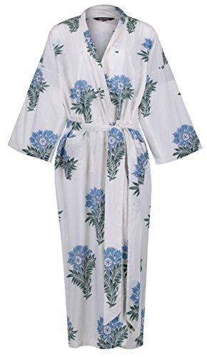 692d391e71 Susannah Cotton Kimono Robe Women s Bathrobe Dressing Gown Bridesmaid 100%  Organic Cotton  Wild Flower Yukata