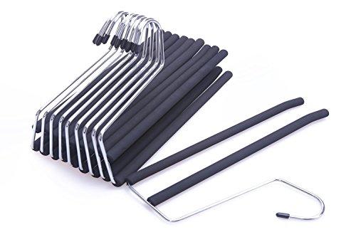 J S Hanger 2 Tier Open Ended Slack Pant Hangers With Non