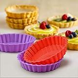 Silicone Quiche Pan, Mini Pie Pan Non-stick Round