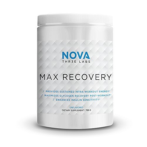 NOVA Three Labs | Max Recovery + Protein | Post Workout Carbohydrate and Whey Isolate Protein that Enhances Glycogen Repletion, Increases Insulin Sensitivity | 30 Servings (Chocolate Milkshake)