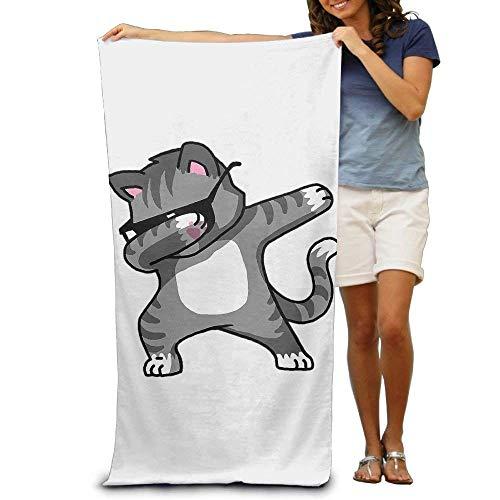 DEFFWBb Super Absorbent Beach Towel Funny Dance Cat Polyester Velvet Beach Towels 31'' X 51'' Inch by DEFFWBb