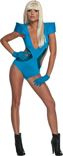 Lady Gaga Swimsuit Costume,Blue,Standard