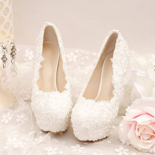 GTVERNH Damenschuhe Super - High - Heels Wasserdichte Tabelle Schuhe Schuhe Schuhe Dünnen Absätzen Spitzen Blaumen Perlen 14 cm Hochzeit Schuhe Braut - Schuhe. bc1c74