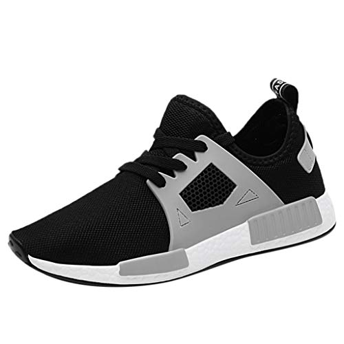 LUCAMORE Men's Women's Walking Tennis Running Shoes Blade Athletic Shoes Couple Casual Fashion Sneakers Grey
