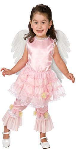Girls Angel Lilac Kids Child Fancy Dress Party Halloween Costume, 1T-2T (Lilac Angel Toddler Costume)