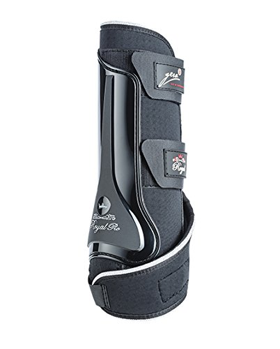 gera 2037HG Royal Pro Dressurgamasche - Glamour, hinten, Größe III / L, paarweise, schwarz