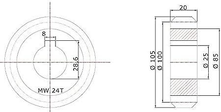 Rueda dentada Módulo 4 para puertas correderas (, de automatización, Puerta corredera: Amazon.es: Bricolaje y herramientas