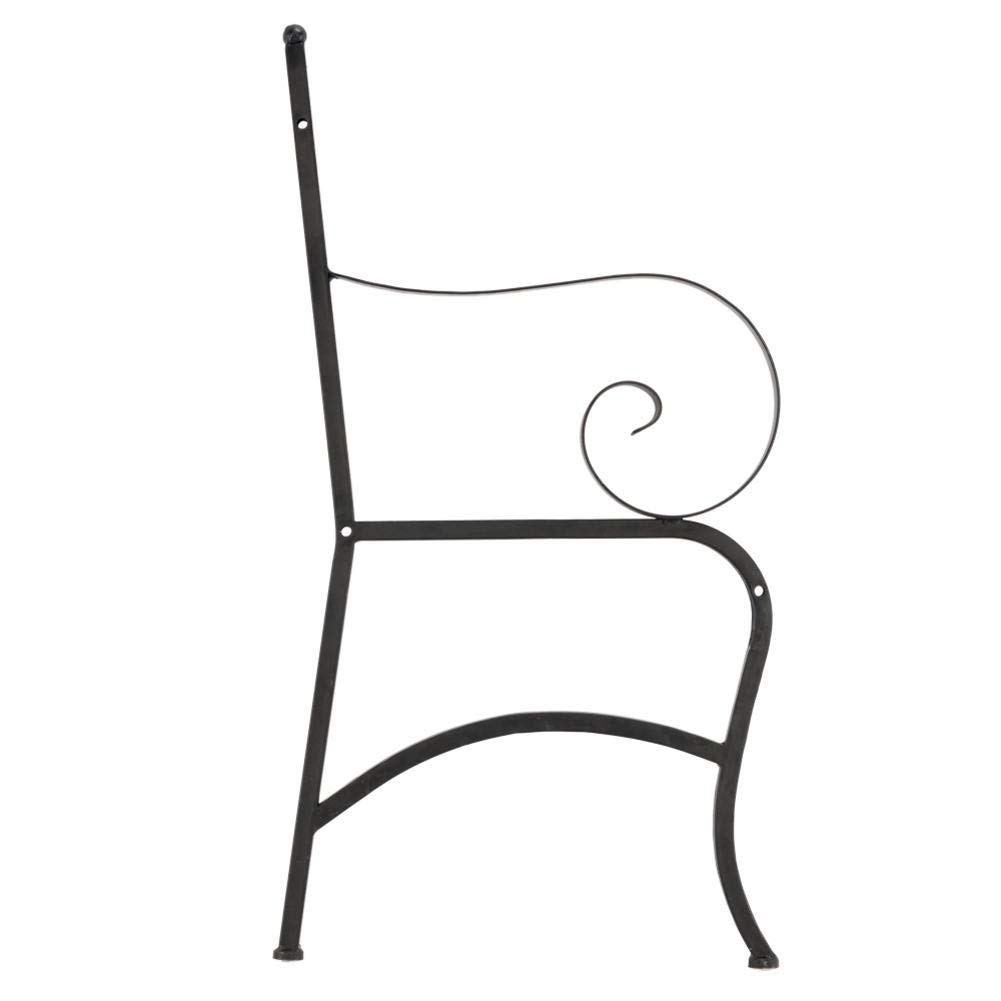 Outdoor Double Seat, Foldable Metal Antique Garden Bench, Folding Outdoor Patio Chair, Decorative Outdoor Garden Seating, Park Yard Bench with Decorative Cast Iron Backrest by CargoTi (Image #8)