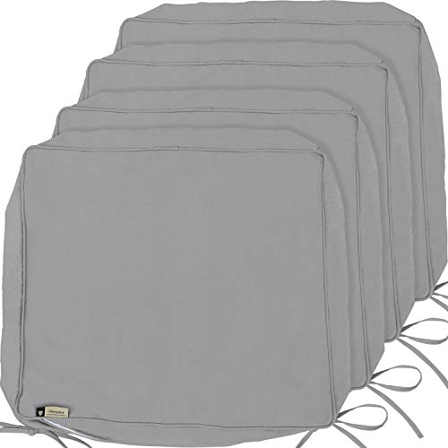 Outdoor Cushion Covers, 4-Pack Deep Seat Patio Cushion Cover, Heavy Duty Outdoor Furniture Lawn Couch Sofa Chair Seat Cushion Replacement, 24 x 22 x 4 Thick, Set of 4, Grey (Furniture Clearance With Patio Cushions)