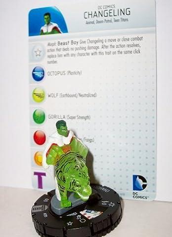 Heroclix DC Teen Titans #038 Changeling Figure with Card (Dc Figures Beast Boy)
