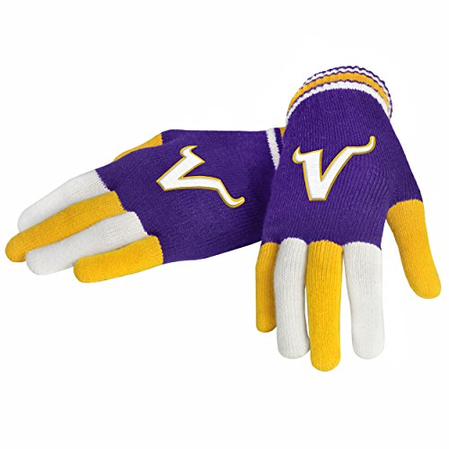 Minnesota Glove Vikings (FOCO NFL Minnesota Vikings Multi Color Team Knit Glove, Team Color, One Size)