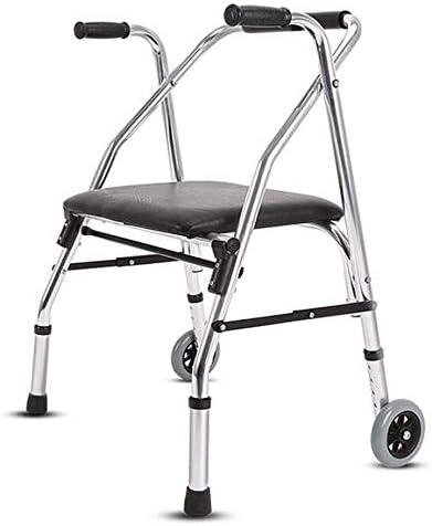 ST-ST ウォーキングフレーム、リハビリテーション椅子、折りたたみ軽量アジャスタブルウォーカー、高齢者、障害者、腕のサポートは、独立しウォークを支援