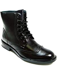Men's 828-85 Wing Tip Military Style Oxford Dress Casual Boots