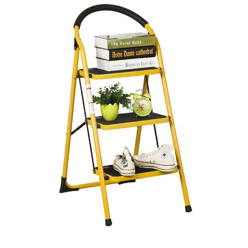 FURINNO FNBJ-22116-1 Heavy Duty 3-Step Ladder