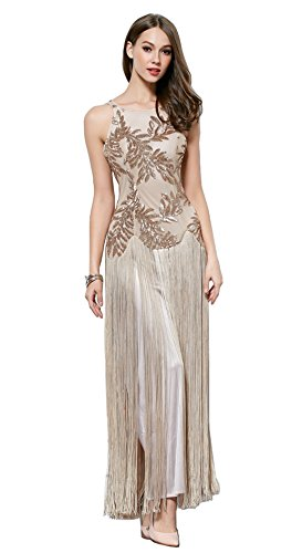 Merope J Womens Sequined Embroidery Sleeveless Flapper Cocktail