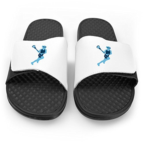 Girls Girl ChalkTalkSPORTS Slide Lacrosse ChalkTalkSPORTS Blue White White Lax Sandals FtwvRqFKM