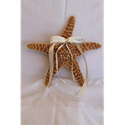 Beach Wedding Real Sugar Starfish Ring Holder - Starfish Pillow