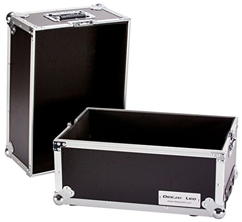 (Premium Flight Road 100 Capacity Medium-duty Deluxe LP Case with Wheels is a medium-duty ATA case made to transport and protect up to 100 LP records Easy locking fit and tongue DEEJAY LED TBHLPHWE)