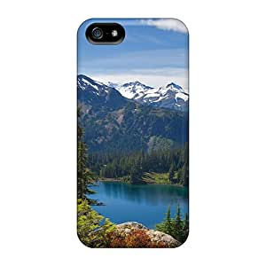 JoyRoom ABQzf5632TGrKn Case Cover Skin For Iphone 5/5s (lake Mountains Forest)