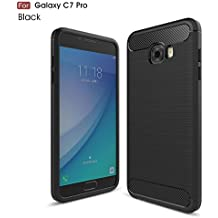 Samsung Galaxy C7 Pro Case, Landee Soft Silicon Resilient Shock Absorption and Carbon Fiber Design Protective Case for Samsung Galaxy C7 Pro(C7Pro-TQ-01)